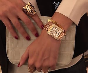bag, bracelet, and watch image