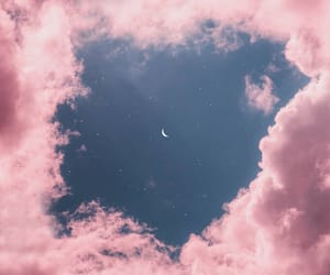 pink, sky, and moon image