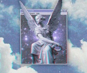 aesthetic, angels, and blue image