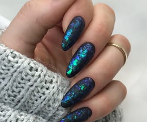 black, blue, and nails image