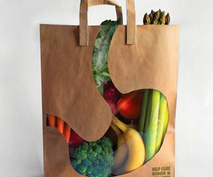 bag, creative, and fruit image
