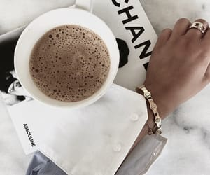 chanel, coffe, and food image