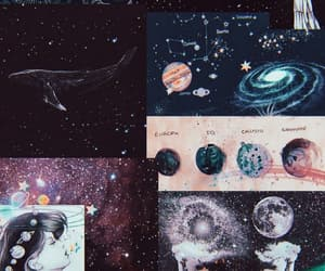 aesthetic, astronomy, and Collage image