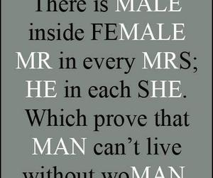 man, quote, and female image