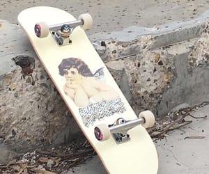 aesthetic, skateboard, and angel image