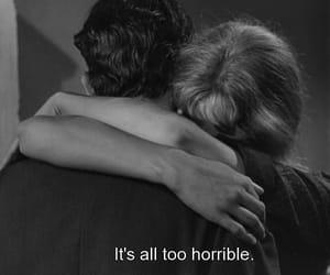 black and white, horrible, and hug image