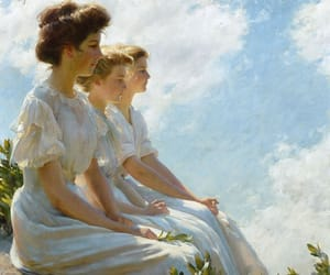 art, lady, and charles courtney curran image