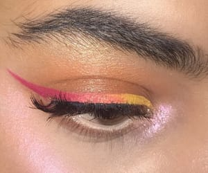 beauty, eyeliner, and highlight image