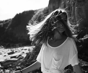 girl, black and white, and summer image