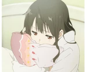anime, black hair, and long hair image