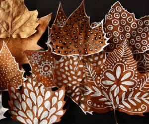 leaves, autumn, and art image