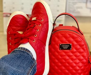 cute shoes, red shoes, and women image