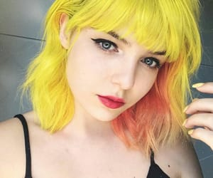 amarelo, colored hair, and hair image