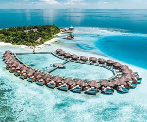 island resort, vacation holiday, and beach ocean sea image