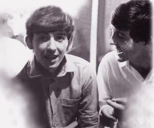 1960s, george harrison, and Paul McCartney image