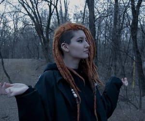 dreads, dreadlocks, and orange dreads image