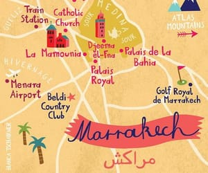 art, map, and marrakech image