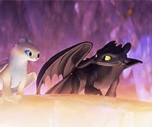 animation, dragon, and gif image