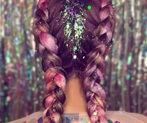 braid, girl, and glitter image