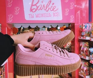 pink, barbie, and puma image