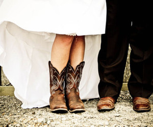 boots and wedding image