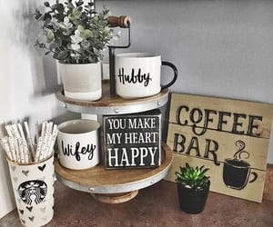 cups, coffee bar, and plant image
