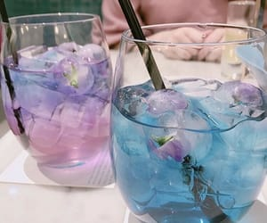 drink, blue, and pink image