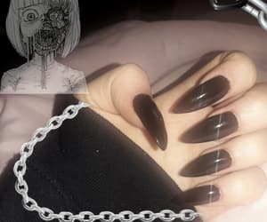 2000s, black nails, and chains image