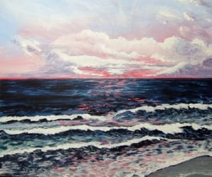 sunset and painting image
