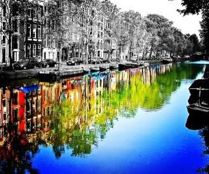 color, black and white, and city image