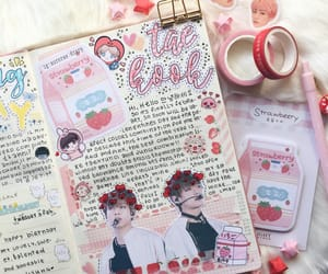 journaling, kpop, and pink image