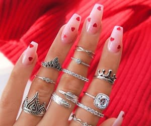 hearts, inspiration, and nails image