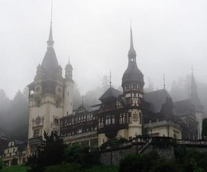 castle, architecture, and fog image