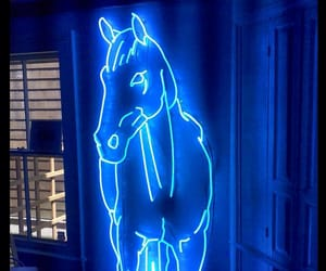 art, blue, and neon image