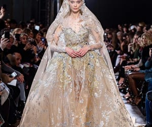 bridal gown, dress, and haute couture image