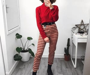 outfit, fashion, and red image