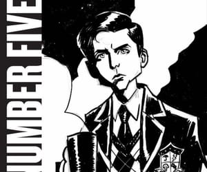 NUMBER 5, the boy, and the umbrella academy image