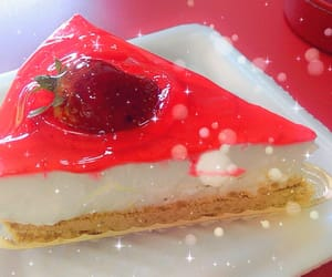 cheesecake, jelly, and strawberry image
