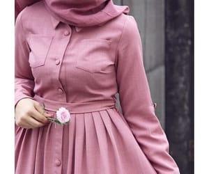 dress, hijab, and style image