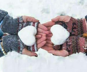 winter, snow, and love image