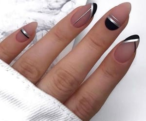 black, nails, and pinks image