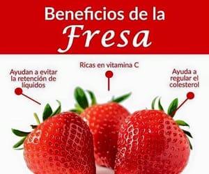 comida, strawberries, and sabias que image