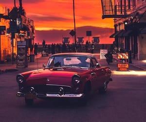 car, california, and sunset image