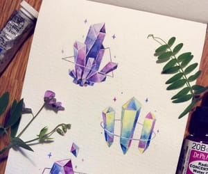 artist, colors, and crystal image