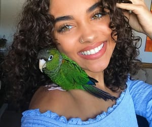 girl, beauty, and bird image