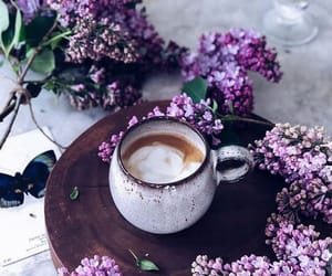 coffee, flowers, and pretty image