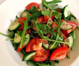 food, healthy, and salad image