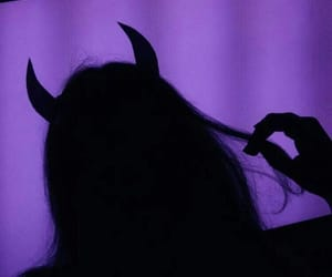 girl, Devil, and purple image