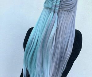 aesthetic, blue, and braid image