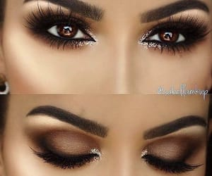 brown, eyelashes, and eyes image